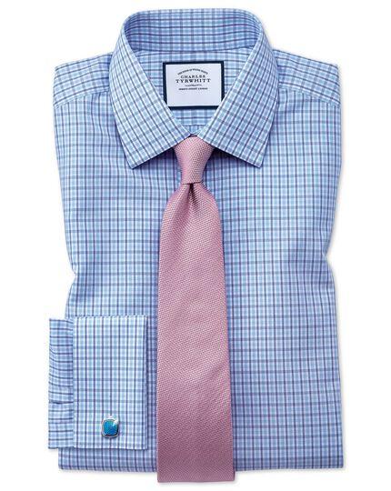 Cravate classique lilas en soie unie