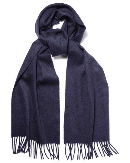 Navy cashmere scarf