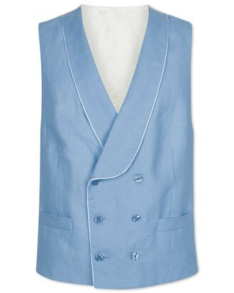 Blue adjustable fit morning suit waistcoat