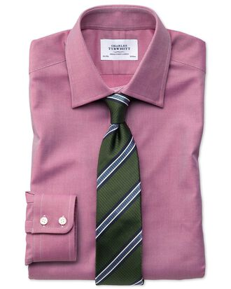Classic fit Egyptian cotton royal Oxford magenta shirt