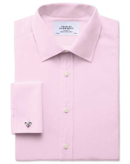 Extra slim fit end-on-end pink shirt