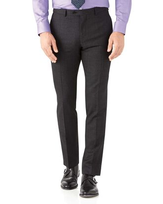 Pantalon de costume business charcoal slim fit avec motif milleraies