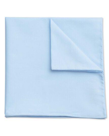 Sky classic plain cotton pocket square