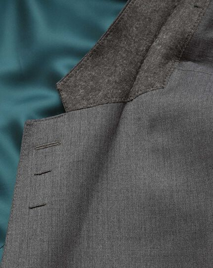 Slim Fit italienischer Anzug Sakko in Grau