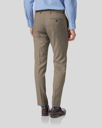 Pantalon de costume business fauve en twill slim fit