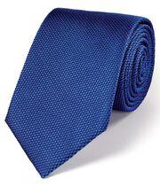 Cravate classique bleu foncé en soie