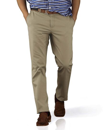 Stone extra slim fit flat front chinos