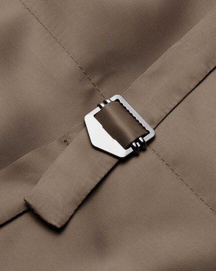 Fawn adjustable fit twill business suit vest
