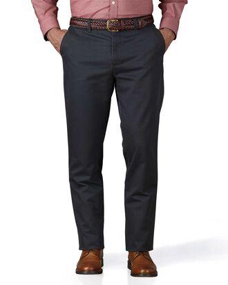Slim Fit Chino Hose ohne Bundfalte in Grau