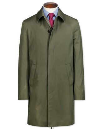 Olive cotton raincoat