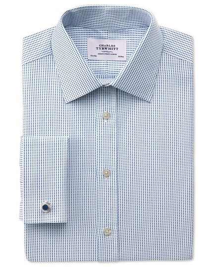 Classic fit Pima cotton double-faced navy shirt