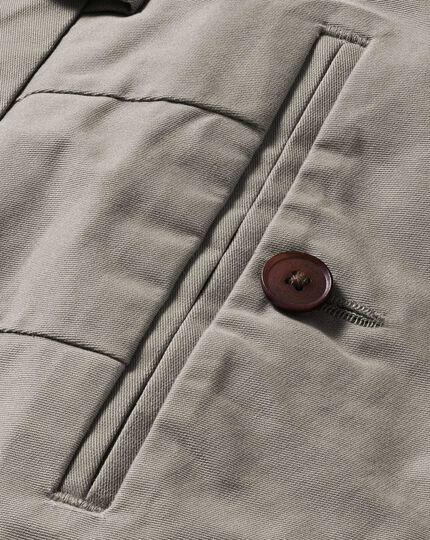 Pantalon chino gris slim fit en tissu stretch