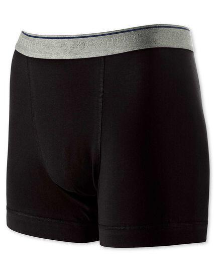 Caleçon noir stretch en jersey