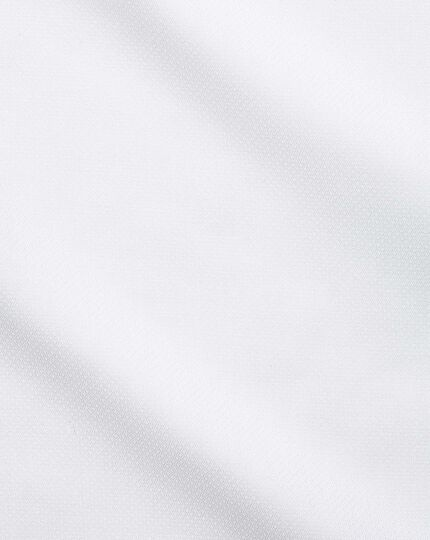 Slim fit semi-cutaway business casual non-iron modern textures white shirt