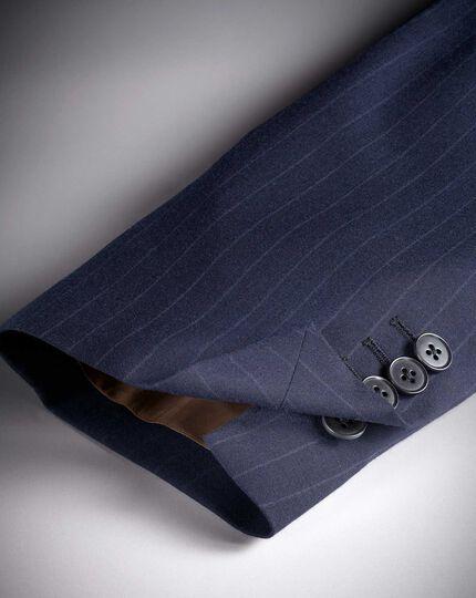 Navy classic fit Panama stripe business suit jacket