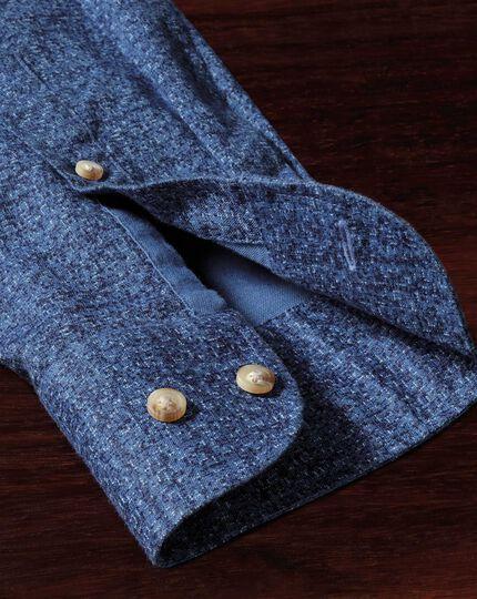Extra slim fit blue print shirt