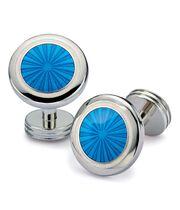 Manschettenknöpfe aus Emaille in leuchtend Blau