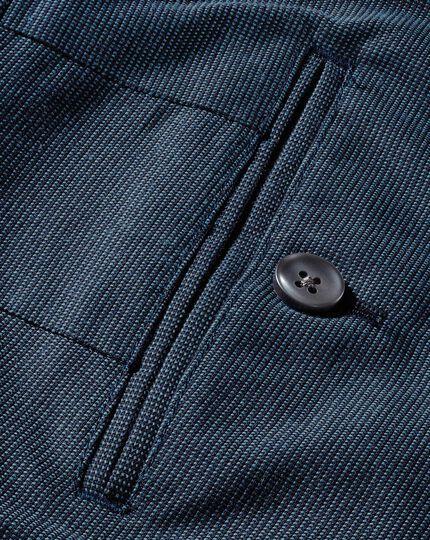 Blue classic fit pin dot pants