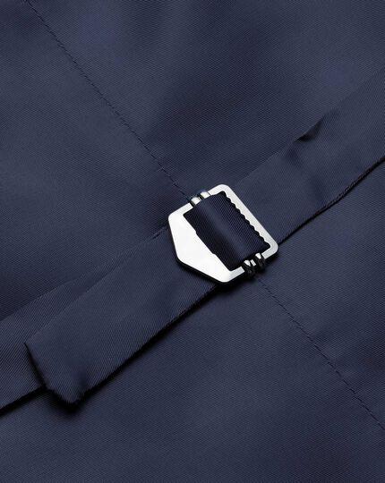 Navy adjustable fit twill business suit vest