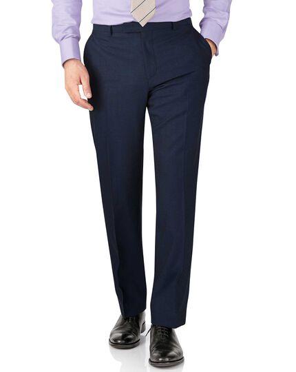 Blue slim fit British Panama luxury suit pants