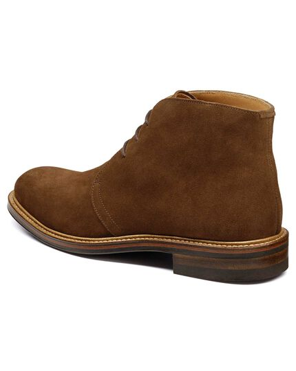 Brown Pendrift suede Chukka boots