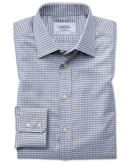 Classic fit large puppytooth light grey shirt