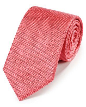 Cravate classique corail en soie
