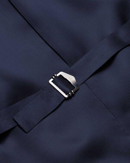 Navy saxony business suit waistcoat