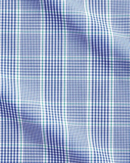 Chemise Prince de Galles bleue et verte coupe droite