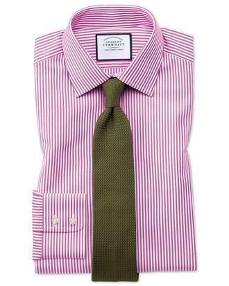 Classic fit Bengal stripe pink shirt