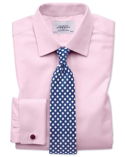 Royal and white silk large spot classic tie