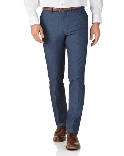 Indigo extra slim fit stretch cavalry twill trousers