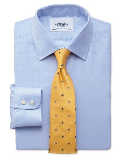 Extra slim fit small herringbone sky shirt