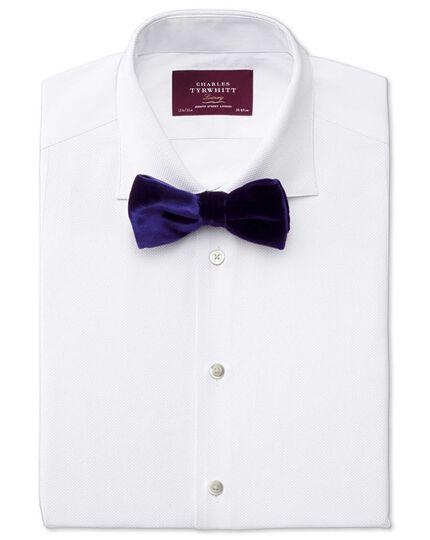 Blue cotton velvet luxury ready-tied bow tie