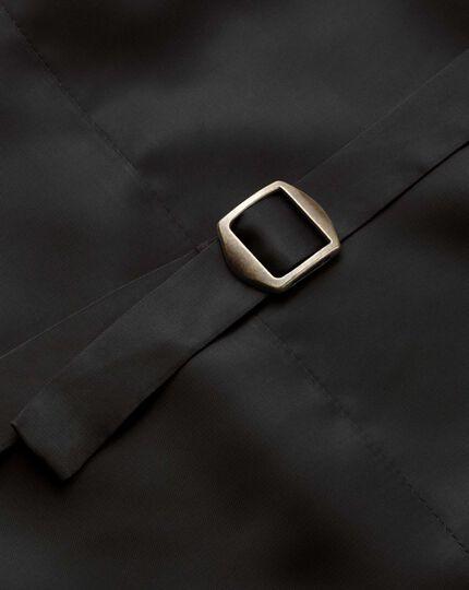 Gilet de costume de cérémonie gris foncé coupe ajustable