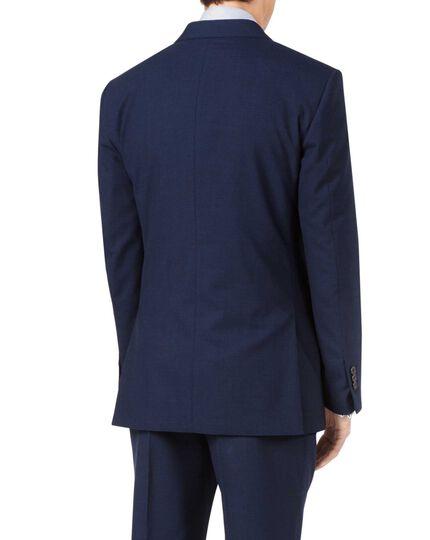 Veste de costume business bleu indigo en Panama à pied-de-poule slim fit