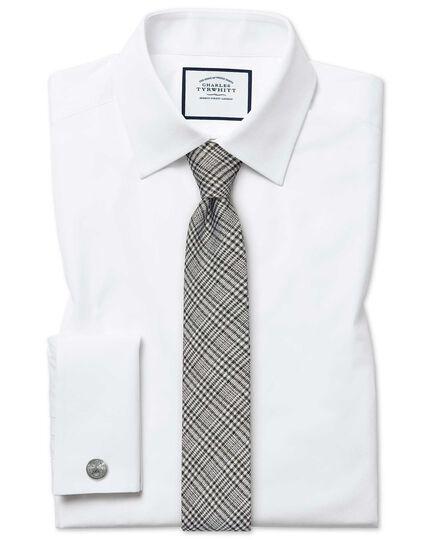 Extra Slim Fit Hemd aus ägyptischer Baumwolle und Popeline in Weiß