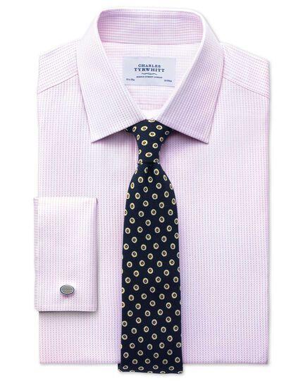 Classic Fit Hemd aus beidseitiger Pima-Baumwolle in HellRosa