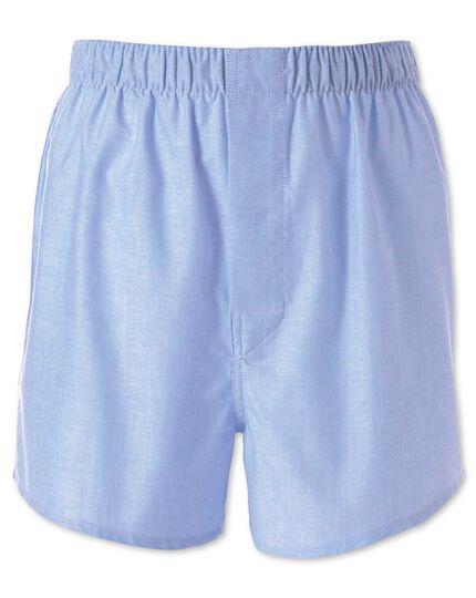 Plain sky blue chambray woven boxers
