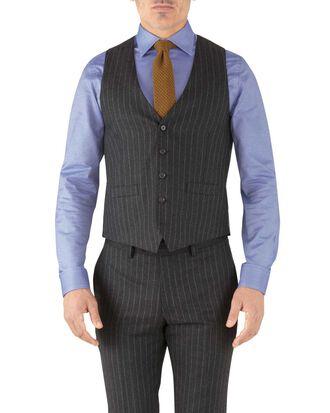 Verstellbare Business Anzug Weste aus Flanell in Anthrazit mit Streifen