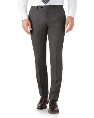 Mocha slim fit hairline business suit pants