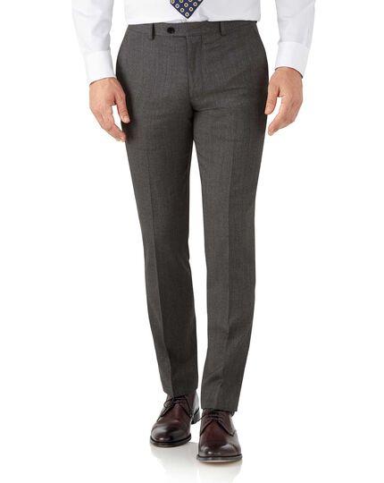 Pantalon de costume business moka slim fit à motif milleraies