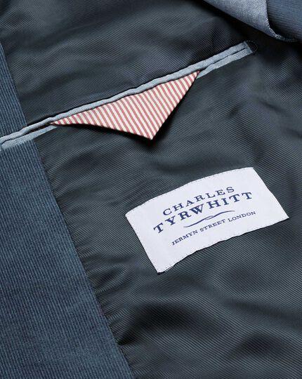 Slim fit blue stretch cord jacket
