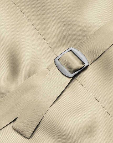 Natural adjustable fit linen morning suit vest
