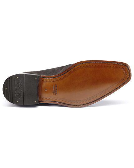 Soho Derby-Schuh aus Veloursleder in Grau