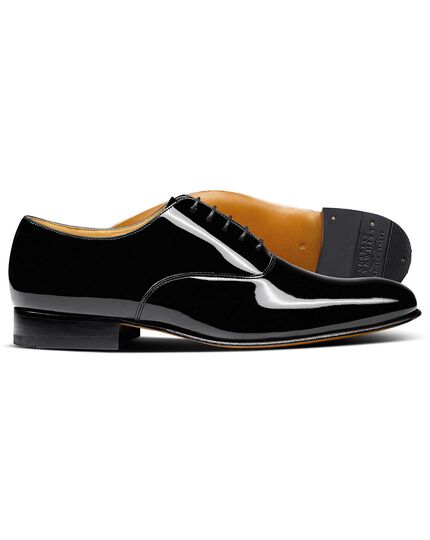 Black Werrington patent Derby Oxford shoes