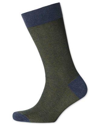 Khaki birdseye socks