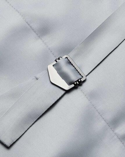Mid blue adjustable fit twill business suit waistcoat