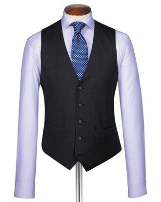 Charcoal end-on-end business suit vest