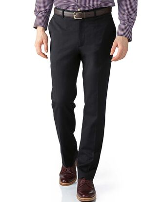 Grey extra slim fit stretch cavalry twill pants